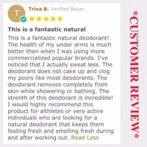 100% Natural Aluminum Free Deodorant - Best Seller!