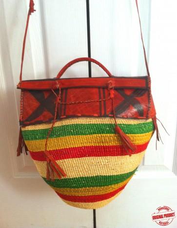 Bolga Basket Purse Hand Woven From Ghana - Sold