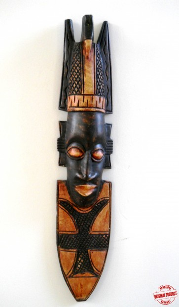 "Ghanaian Wood Mask  - ""Ahoofe - Handsome"""