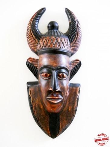 "Ghanaian Wood Mask  - ""Okofo - Warrior"""