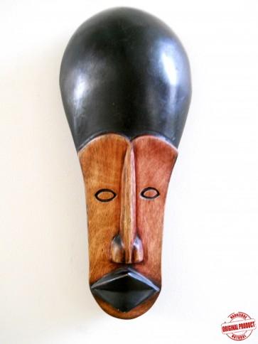 "Ghanaian Wood Mask - ""Elorm - God Loves Me"""