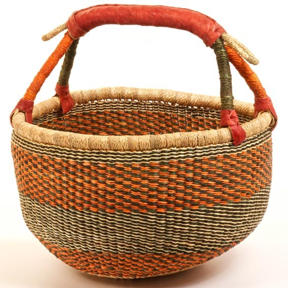 How To Hand Weave A Basket : Bolga baskets hand woven from ghana handmade natural soap