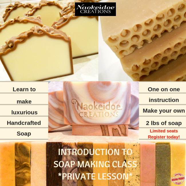 Soap Making Class Basic - Private Lesson - Richmond, VA - Hampton, VA -  Intro to Soap Making -