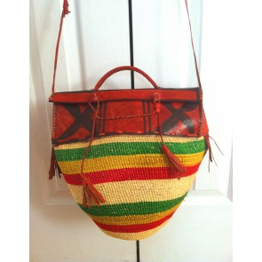 Bolga Basket Purse Hand Woven From Ghana - Sold
