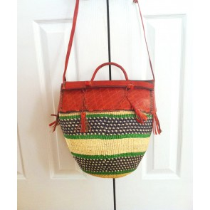 Bolga Basket Purse Hand Woven From Ghana - Sold Out