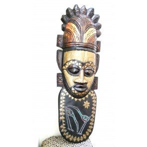 "Ghanaian Wood Mask - ""Ohwefo - Ruler"""