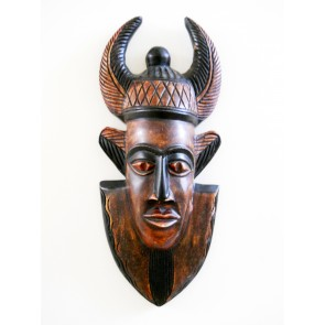 "Ghanaian Wood Mask  - ""Okofo - Warrior"""