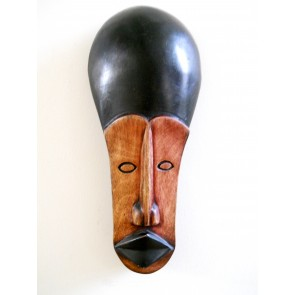 "Ghanaian Wood Mask - ""Elorm - God Loves Me"""