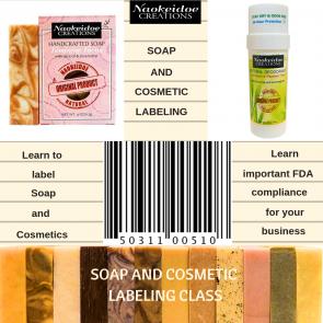 Labeling Soap and Cosmetics Class -  Richmond, VA and Hampton, VA