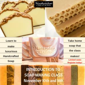 Soap Making Class Richmond and Hampton, VA