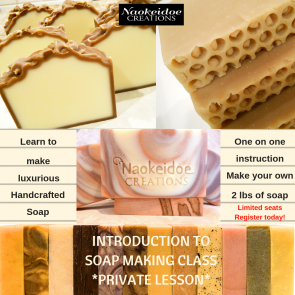 Soap Making Class Private Lesson Richmond and Hampton, VA