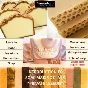 Soap Making Class Private Lesson Richmond and Hampton, VA