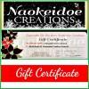 Naokeidoe Creations Gift Certificate