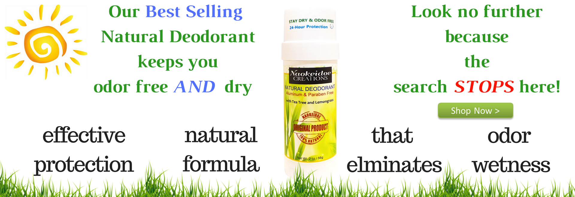 Naokeidoe Creations Natural Deodorant
